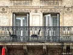 ... (Jean S..) Tags: balcony chairs windows old ancient paris france outdoors