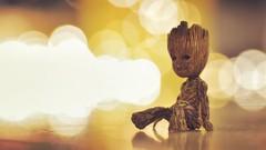 I am Groot. (aadilbricha) Tags: bokeh guardiansofthegalaxy groot macro nikond5200 tamron90mm actionfigure christmas light christmaslights macromonday macromondays memberschoice memberschoicebokeh hmm