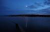 late evening across the estuary (Johnson Cameraface) Tags: 2016 september autumn olympus omde1 em1 micro43 mzuiko 1240mm f28 johnsoncameraface berwickupontweed tweedmouth northumberland estuary lights sea coast night rivertweed moon reflection clouds