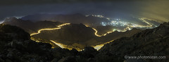 Al-Hada Point at Taif (Photonistan) Tags: nightphotography longexposure lighttrails