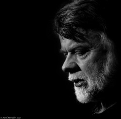 Sad songs and heartbreak (Neil. Moralee) Tags: anything but thatneilmoralee man face portrait profile close detail beard sing singer vocal sad song mature old male black white bw bandw mono monochrome blackbackground neil moralee nikon band vocalist music performer perform moustache sorrow loss pleasure nose d7100 left musician