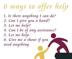 6 ways to offer help
