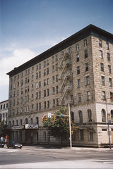 Wilkes-Barre  Pennsylvania - Hotel Sterling - As it Looked in 2002 - Demolished - 2013 (Onasill ~ Bill Badzo) Tags: luzerne county suffered record flooding due tropical storm lee flood waters from nearby susquehanna river wilkes barre pa pennsylvania nrhp downtown street historic markent st banker lost structure plaza tower scaffold sign onasill hotel
