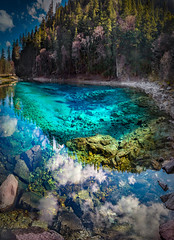 Five-Color Pond (MilaMai) Tags: landscape china jiuzhaigou fivecolor pond travel asia turquoise water autumn forest milamai colorful nature