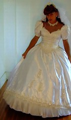 vintage wedding gown (Classic Dresser) Tags: vintage wedding gown crossdresser