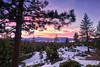Tahoe Sunset 05 (Evan Gearing (Evan's Expo)) Tags: laketahoe nv nevada places type mountains sky snow sunset trees glenbrook unitedstates us