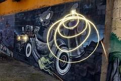 Lighpaintig sobre graffiti de Icat (arapaci67) Tags: tokina 12mm 28mm canon70d lighpainting icat pegalajar jaén andalucía spain graffiti cat mural arte urbano