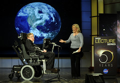 Stephen Hawking speaks at NASA 50th