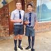1 (cane4u) Tags: boy boys schoolboy schoolboys teenage teenager school uniform grey shorts socks tie blazer spanking headmaster discipline corporal punishment cp cane caning strap tawse paddle birch