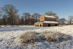 The Deer Barn (andyrousephotography) Tags: dunhammassey altrincham nationaltrust countrypark park outbuildings deerbarn deer frost snow fresh winter blueskies andyrouse canon eos 5d3 5dmkiii ef1740mmf4l