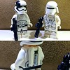 First Order Jump Trooper and Snow Trooper (TheHighGround2187) Tags: star wars lego starwars starwarslego legostarwars minifigures jedi last awakens force han rey poe finn luke leia skywalker solo organa movies kenobi obiwan yoda blasters red helmets galaxy space