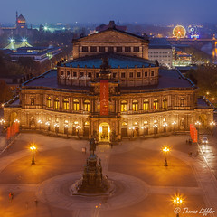Semperoper Dresden (funtor) Tags: dresden sachsen germany dämmerungnacht city night light colors architecture building