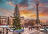 Trafalgar Square London (chrisfay55) Tags: trafalgarsquare nelson london england uk sunset rain christmas