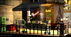 Old Italy ~ La Perla (♥ Second Life) Tags: second life destinations la perla old italy christmas snow winter bar pub beer vino tropea
