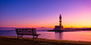 Symphony of Colours (Matt Rimkus Photography) Tags: lighthouse warmtones newday crete serenity sunrise bench water morning colourful greece mediterranean harbour chania early kreta griechenland gr