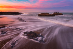Pulling Tides (Darren White Photography) Tags: yachats oregon oregoncoast oregontravel longexposure oregonbeaches beaches sunrise oregonsunrise ocean landscapesofthenorthwest landscapesoforegon pacificnorthwest darrenwhitephotography