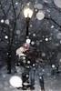 Snowy Central Park (M Zappano) Tags: snow christmas centralpark kiss kissing lamp snowy streetlamp light fujifilm nyc newyork winter