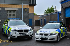 Old & New (Cleveland & Durham RPU) Tags: durham constabulary bmw x5 anpr police arv armed reponse vehicle rpu roads policing unit traffic car 999 emergency policeinterceptors lj66exa 330d 3series e91 estate touring trafficcar nk61cju