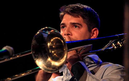 Timothé Lemaire (tb) Jazz Station Big Band, Centre culturel d'Ans-Alleur, vendredi 03/11/2017.