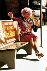Dame Edna (Truus, Bob & Jan too!) Tags: dameedna dameednaeverage barryhumphries barry humphries tv television drag personality comedian film cinema cine kino picture screen movie movies filmster star megastar gigastar possum vintage postcard carte postale cartolina tarjet postla postkarte postkaart briefkarte briefkaart ansichtskarte ansichtkaart americanpostcard roddy doubleexposure 1992 mcdowall roddymcdowall