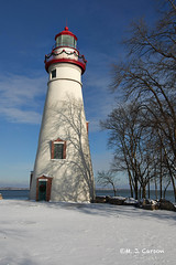 Christmas On The Peninsula (mjcarsonphoto) Tags: marblehead lighthouse snow christmas winter