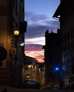 Sunset Cityscape in the Winter, Tuscany