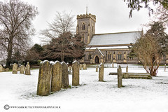 St John the Evangelist - West Meon. (mark_rutley) Tags: meon meonvalley winter snow westmeon church graves cemetery hampshire guyburgess spy thomaslord cricket gravestones stjohn