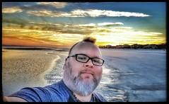 10/27/17 - Sunset on the Beach @ Hilton Head Island, SC (Chillycub) Tags: october 2017 vacation trip hdr sunset beach ocean sand hiltonheadisland southcarolina me dave chillycub gay bear cub selfportrait