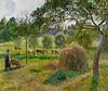 Meules et et vaches dans le pré, Eragny, soleil couchant (C Pissarro - PDRS 1135) (photopoésie) Tags: cpissarro pdrs 1135 1896