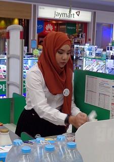 moslem cashier