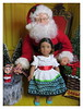 6. Portrait with Santa - Josefina (Foxy Belle) Tags: american girl mini christmas doll historic diorama 16 scale miniature ag santa claus scene barbie theater playscale tree chair red velvet