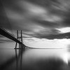 Ponte Vasco da Gama (strupert) Tags: 12100mmzuiko em1m2 olympus monochrome blackandwhite bridge pontevascodagamabridge superstopper lee longexposure portugal lisbon