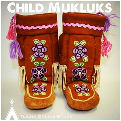 Child #mukluks made the Whatì Sewing Group - going up this week before the holidays! (Tlicho Online Store) Tags: mukluks