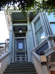 San Francisco, CA, Noe Valley, Victorian House Stairs and Entrance (Mary Warren 13.5+ Million Views) Tags: sanfranciscoca noevalley house residence victorian entrance door doorway portal blue architecture building stairs