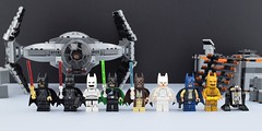 Bats Wars👊 (Alex THELEGOFAN) Tags: lego legography minifigure minifigures minifig minifigurine minifigs minifigurines movie super heroes batman dc comics star wars obi wan kenobi darth vader leia princess luke skywalker emperor stormtrooper c3po han solo spaceship