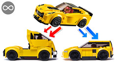 LEGO Corvette alternate models (KEEP_ON_BRICKING) Tags: lego speed champions moc 75870 corvette chevrolet remake remix car truck hot hatchback sportscar legomoc keeponbricking