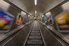 Stepping into the Unknown.... (Aleem Yousaf) Tags: stepping unknown good wishes new year beginnings escalator liverpool street advertisments motion blur 16mm fisheye lens perspective nikon d800 wideangle upwards onwards