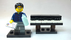 Brick Yourself Custom Lego Figure New Dad with Piano