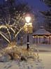 Wintry Gazebo (LivGreen07) Tags: winter snow gazebo streetlamp oldfashioned lights