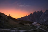Dreams shelter (Stephen Hunt61) Tags: alpine alps dolomiti dolomites sunset hutte shelter trails sky clouds vibrance vibrant colorful mountains mountain mountainscape nature natura tramonto stefanocaccia