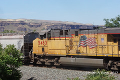 East Manifest (youngwarrior) Tags: train up unionpacific railroad manifest biggs oregon ac45ccte ge generalelectric locomotive