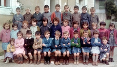 Class Photo (theirhistory) Tags: boys children kids school class colour jumper shirt shoes wellies trousers dress skirt girl rubberboots shorts form pupils students education
