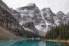 Snow-dusted Mountains (Kirk Lougheed) Tags: alberta banff banffnationalpark canada canadian morainelake valleyofthetenpeaks autumn fall forest lake landscape mountain nationalpark outdoor park shore shoreline snow water