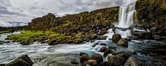 Öxarárfoss No. 3 - Iceland (dejott1708) Tags: öxarárfoss þingvellir national park lceland ísland landscape panorama waterfall basalt clouds