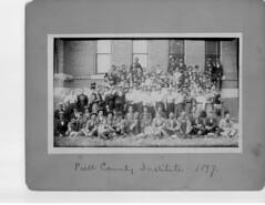 Piatt County Farmers Institute at Monticello Courthouse 1897 (RLWisegarver) Tags: piatt county history monticello illinois usa il