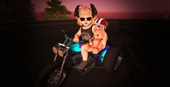 Paislee Rides at Dawn (Paislee of Pandacornia) Tags: bish box bishbox zooby penelope thesugargarden sugar garden tsg baby princess motor bike medic bear caboodle bracelet wrist ribbon doe brookie cs rebel