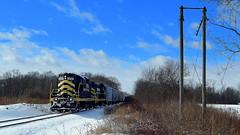 Eastbound Indiana Northeastern near Edon Ohio (Matt Ditton) Tags: indiana northeastern edon ohio train