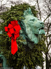 The Lion in Winter (Jim Frazier) Tags: 2016 20161205downtown art artinstitute chicago christmas city december decorations downtown il illinois institute jimfraziercom lion loop red ribbon sculpture statue urban winter wreath instagram q3 f10 fastpictures