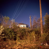 (patrickjoust) Tags: mamiya c330 s sekor 80mm f28 fujichrome astia 100f tlr twin lens reflex 120 6x6 medium format fuji chrome slide e6 color reversal expired discontinued film cable release tripod long exposure night after dark manual focus analog mechanical patrick joust patrickjoust maryland md usa us united states north america estados unidos building smoke stack trees