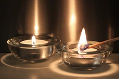 Matchstick #MacroMonday #Stick (ryorii) Tags: candle tealight flame matchstick stick candele candela fiamma fiammifero canon